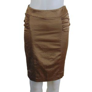 xxi Forever 21 Gold Pencil Skirt Size S